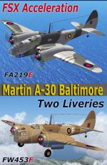 FSX Martin A-30 Baltimore Twin Livery RHAF package.